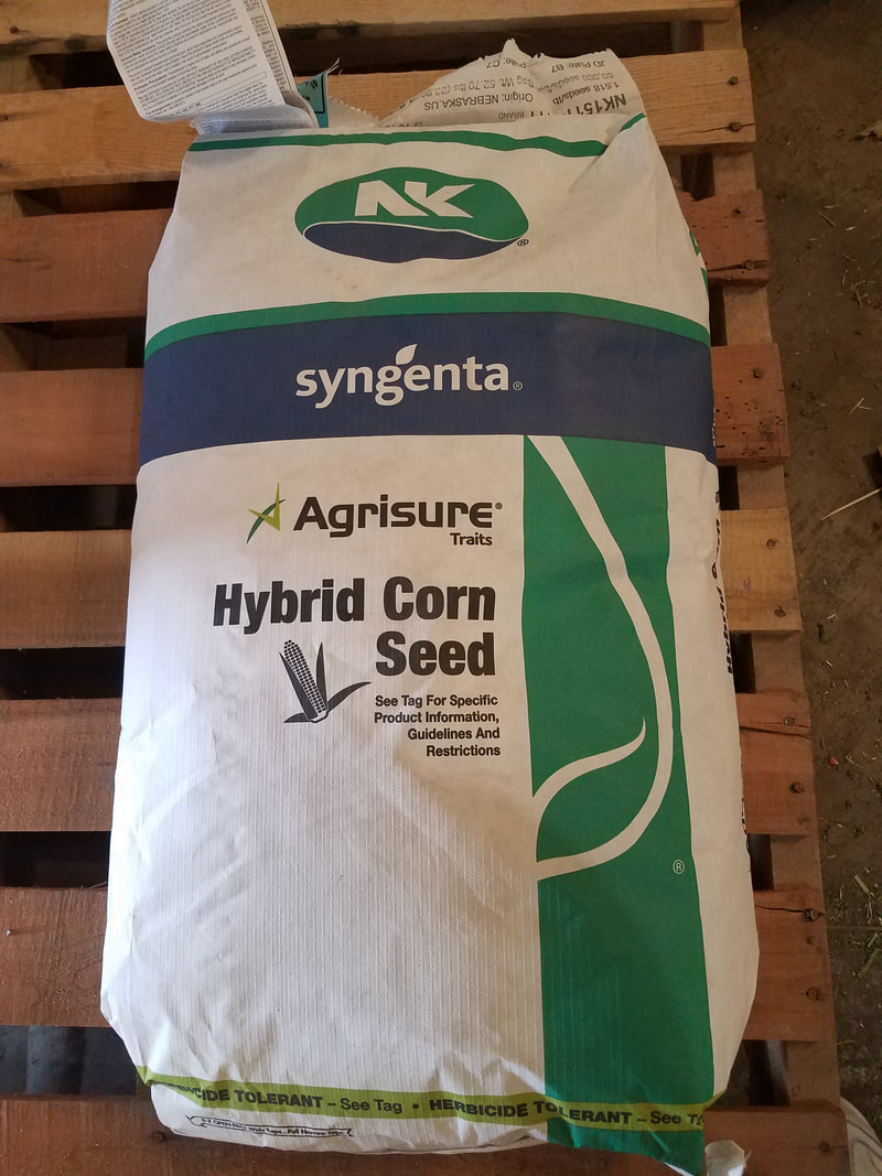 We keep on hand, or have immediate availability too various grass seeds, cover crops, garden seed, wildlife food ...